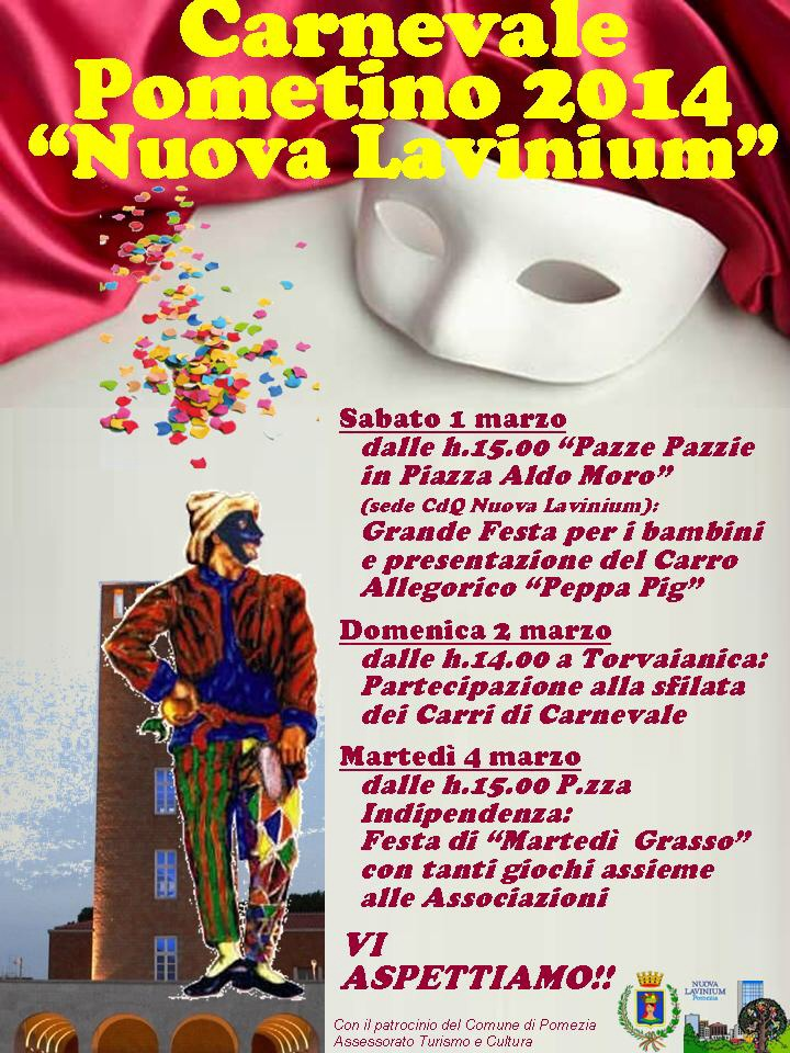 Locandina Carnevale Nuova Lavinium