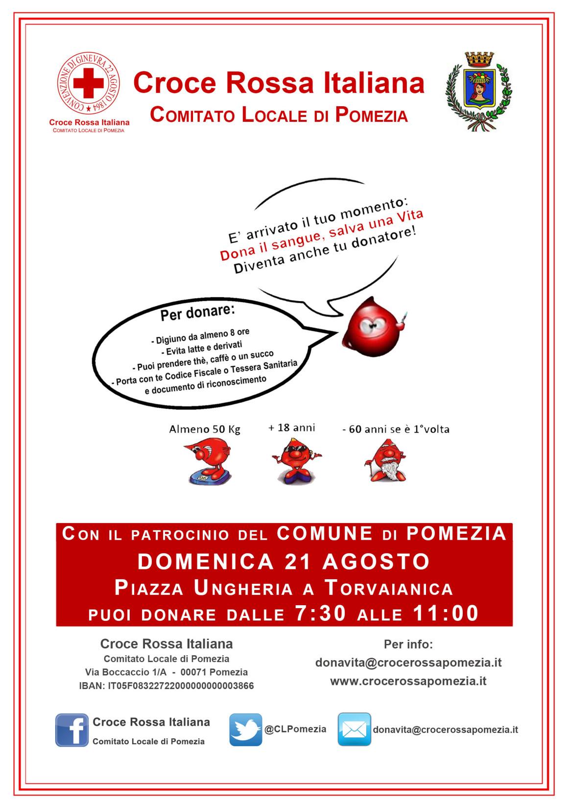 VOLANTINO DONAZIONE SANGUE_Torvaianica_21-Agosto