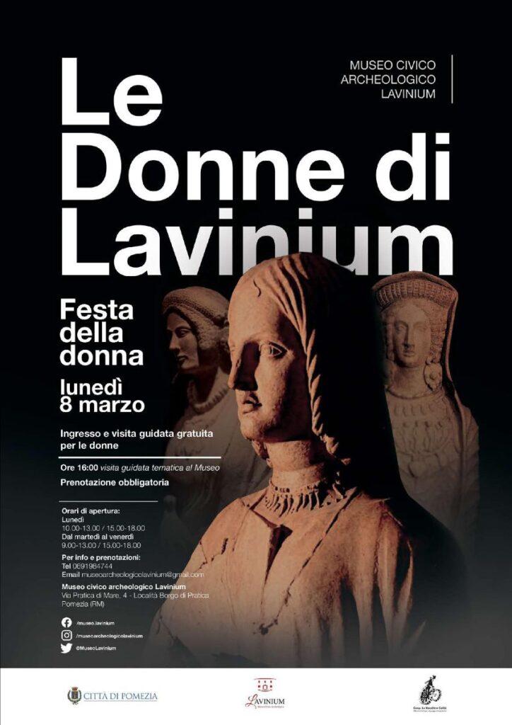 Le Donne di Lavinium evento Museo Civico Archeologico di Pomezia